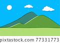 堆 許多 山峰 77331773