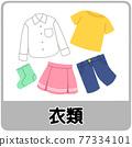 衣服的垃圾分類圖 77334101