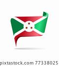 Burundian flag map pointer layout. Vector illustration. 77338025