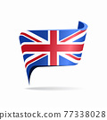 British flag map pointer layout. Vector illustration. 77338028