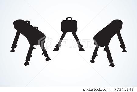 Pommel horse. Vector drawing 77341143