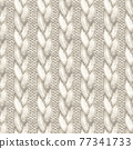 White realistic knitted seamless pattern. Watercolor hand paint cozy warm knit texture 77341733