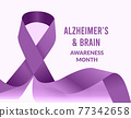 Alzheimer and Brain Awareness Month. Vector illustration 77342658