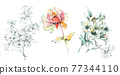Colorful floral material combinations and design elements 77344110