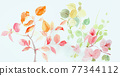 Colorful floral material combinations and design elements 77344112