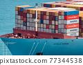 集裝箱 集裝箱碼頭 船隻 77344538