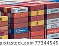 集裝箱 集裝箱碼頭 船隻 77344545