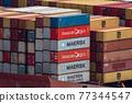 集裝箱 集裝箱碼頭 船隻 77344547