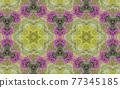 Geometric Patterns Kaleidoscope Purple bougainvillea flowers 77345185