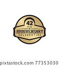 42th year anniversary logo design template 77353030
