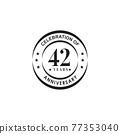 42th year anniversary logo design template 77353040