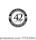 42th year anniversary logo design template 77353041