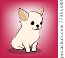 Cute Cartoon Vector Illustration of a Chihuahua  puppy dog 77355380