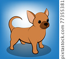Cute Cartoon Vector Illustration of a Chihuahua  puppy dog 77355381