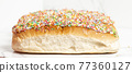 Iced finger buns with sprinkles 77360127