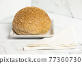 Wholemeal bread roll 77360730