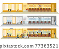 restaurant, sushi, vector 77363521