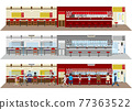 ramen shop, ramen, vector 77363522