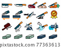 Good knife properties. Maintenance of kitchen equipment cartoon icon. 77363613