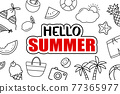 It's summer time background. Summer banner tropical elements design. 77365977