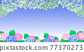 rainy season, hydrangea, rain 77370273