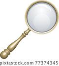 放大鏡 矢量 鏡片 77374345