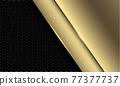 Abstract luxury golden overlap on dark grey hexagon mesh pattern design modern futuristic background vector illustration. 77377737