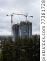 Construction Site of New Residential Building Development in a modern city 77381728