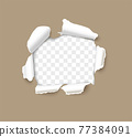 Torn hole ripped in paper page vector 77384091