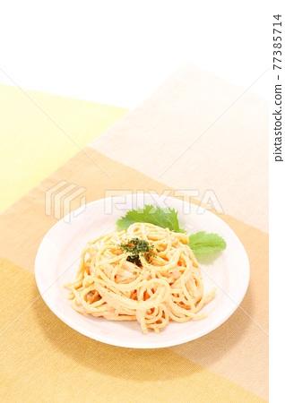 spaghetti, macaroni salad, pasta 77385714