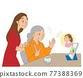 三代人 父母和小孩 親子 77388369