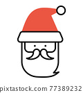 聖誕老公公 聖誕老人 圖標 77389232