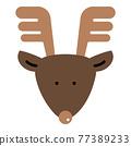馴鹿 鹿 矢量 77389233