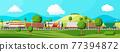 Cargo rail transportation, nature landscape 77394872