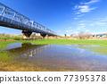 river bed, railway bridge, musashino line 77395378