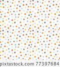 Beautiful vector seamless pattern with watercolor colorful stars. Stock illustration. 77397684