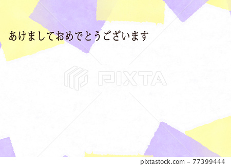 new year's card, japanese paper, washi paper 77399444