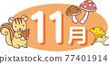 松鼠 銀杏 銀杏樹 77401914