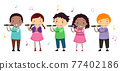 Stickman Kids Piccolo Music Class Illustration 77402186