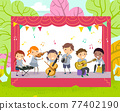 Stickman Kids Play Instruments Illustration 77402190
