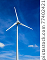 Wind generator turbines in sky 77402421