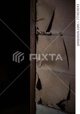japan, paper sliding door, torn 77403643