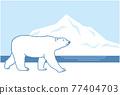 Walking polar bear 77404703