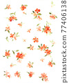 Colorful floral material combinations and design elements 77406138