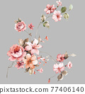 Colorful floral material combinations and design elements 77406140