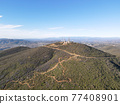 Aerial view of Black Mountain in San Diego, California 77408901