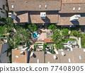 Aerial top view of townnhouse condos in Carlsbad, North County San Diego 77408905