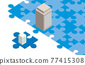 puzzle, business, vector 77415308