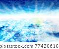 雲彩 雲 水彩畫 77420610