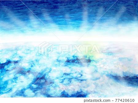 cloud, clouds, watercolour 77420610